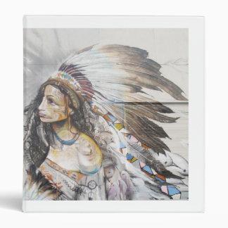 Native Woman Graffiti Binder