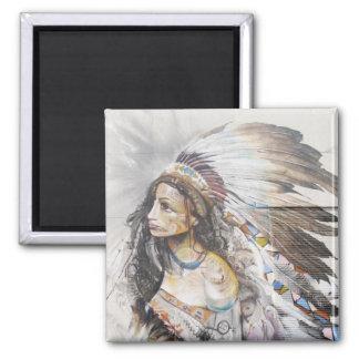 Native Woman Graffiti Magnet