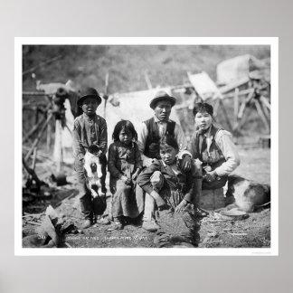Natives Copper River Alaska 1904 Poster