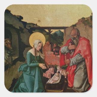 Natividad, 1510 calcomania cuadradas