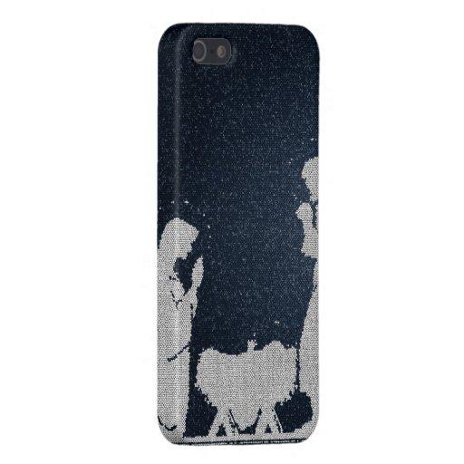 Natividad azul texturizada iPhone 5 cárcasa