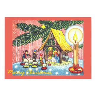 Natividad bajo invitación del fiesta del árbol de