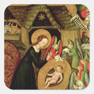 Natividad, c.1425 pegatina cuadrada