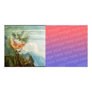 NATIVIDAD CON ÁNGELES - MAGIA del NAVIDAD Tarjeta Fotográfica Personalizada