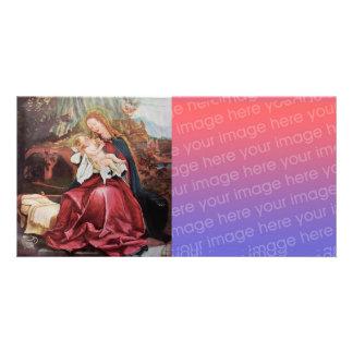 NATIVIDAD CON ÁNGELES - MAGIA del NAVIDAD Tarjetas Con Fotos Personalizadas