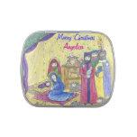 Natividad con lata del caramelo del navidad de los latas de caramelos