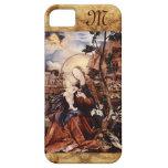 NATIVIDAD CON LILLES BLANCO - MAGIA del monograma  iPhone 5 Carcasas