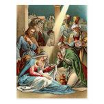 Natividad con los hombres sabios postales