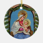 Natividad con Madonna y el niño Adorno Para Reyes