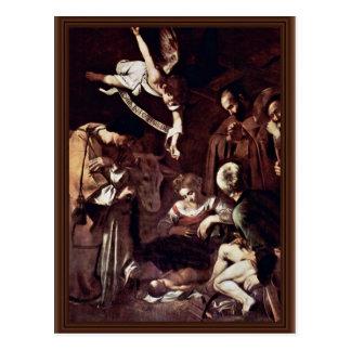 Natividad con St. Lorenzo y St Francis por Mich Postales