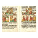 Natividad de Biblia Paupernum Tarjetas Postales