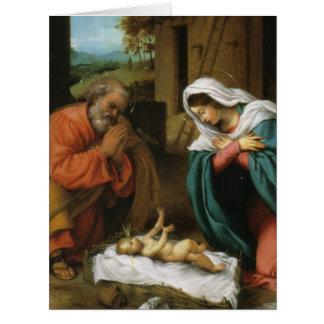 Natividad de Cristo Tarjeta De Felicitación Grande