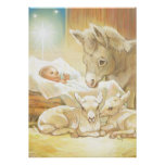 Natividad de Jesús del bebé con los corderos y el  Impresiones