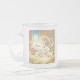 Natividad de Jesús del bebé con los corderos y el  Taza De Café