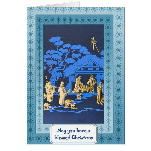 Natividad de la silueta felicitacion