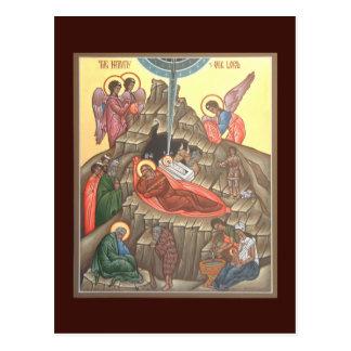 Natividad de la tarjeta del rezo de Cristo Tarjetas Postales