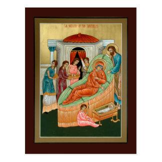 Natividad de la tarjeta del rezo de Theotokos Postal