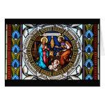 Natividad de la ventana de la capilla de Mehrerau Tarjeta De Felicitación