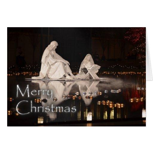 Natividad de las Felices Navidad Tarjeta De Felicitación
