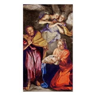 Natividad de Noel Coypel Tarjetas De Visita