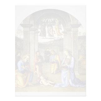 Natividad de Pedro Perugino- Membrete A Diseño