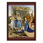 Natividad de Piero della Francesca (la mejor calid Tarjeta Postal