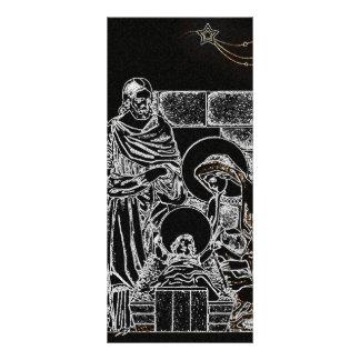 """natividad de plata blanca negra folleto publicitario 4"""" x 9"""""""