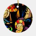 Natividad del estilo del vitral adorno de navidad