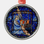Natividad del estilo del vitral adornos