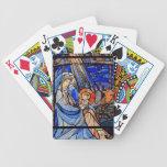 Natividad del estilo del vitral cartas de juego