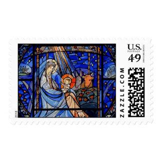 Natividad del estilo del vitral sellos