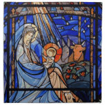 Natividad del estilo del vitral servilletas de papel