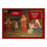 Natividad del mún gusto tarjeta de felicitación