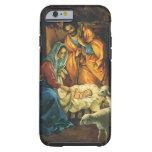 Natividad del navidad del vintage, bebé Jesús en