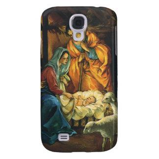 Natividad del navidad del vintage, bebé Jesús en Funda Para Galaxy S4