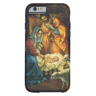 Natividad del navidad del vintage bebé Jesús en