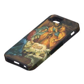 Natividad del navidad del vintage bebé Jesús en p iPhone 5 Protector