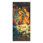Natividad del navidad del vintage, bebé Jesús en Lona