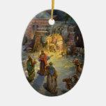 Natividad del navidad del vintage adorno para reyes