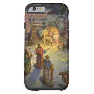 Natividad del navidad del vintage funda de iPhone 6 tough
