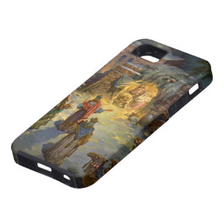 Natividad del navidad del vintage iPhone 5 cárcasa