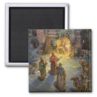 Natividad del navidad del vintage imán de nevera