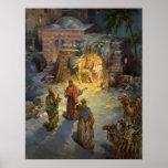 Natividad del navidad del vintage impresiones