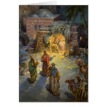Natividad del navidad del vintage tarjetas