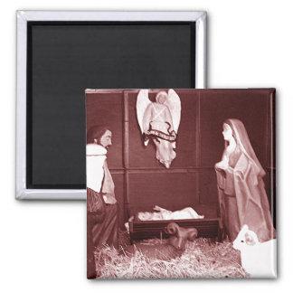 Natividad del navidad imán cuadrado