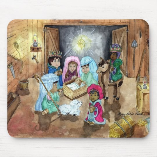 Natividad del navidad mouse pads