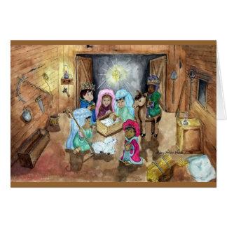 Natividad del navidad tarjeta de felicitación