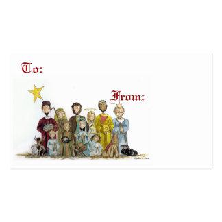 Natividad del navidad tarjetas de visita