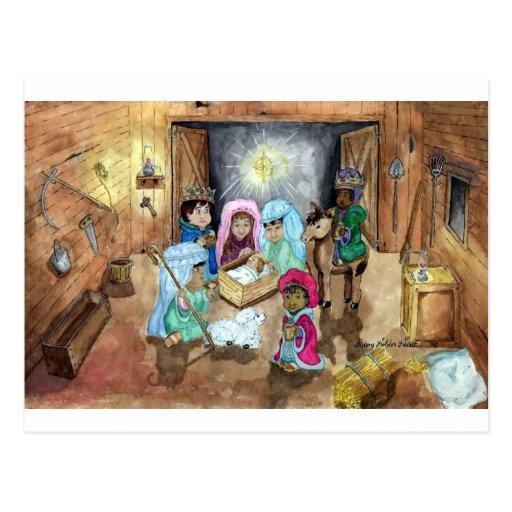 Natividad del navidad tarjetas postales