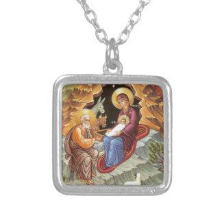 Natividad del salvador collar personalizado
